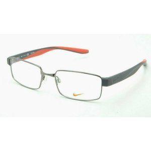 Nike NK 8171 Eyeglasses 060 Matte Gray Red Frames